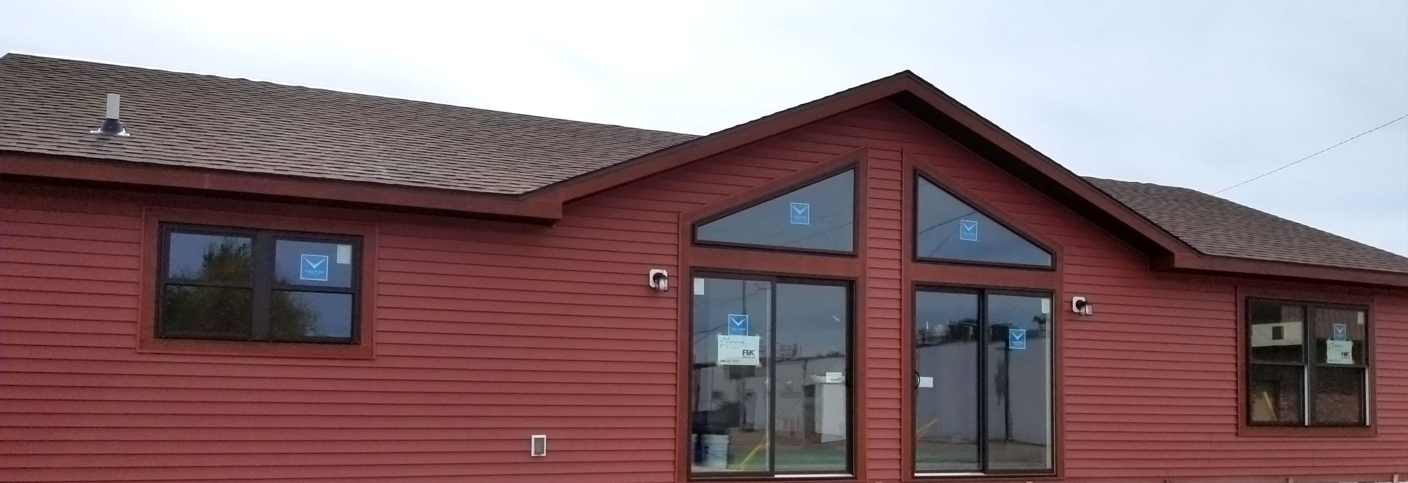 Exterior of the Hudson Model Modular Home built by Factory Home Center