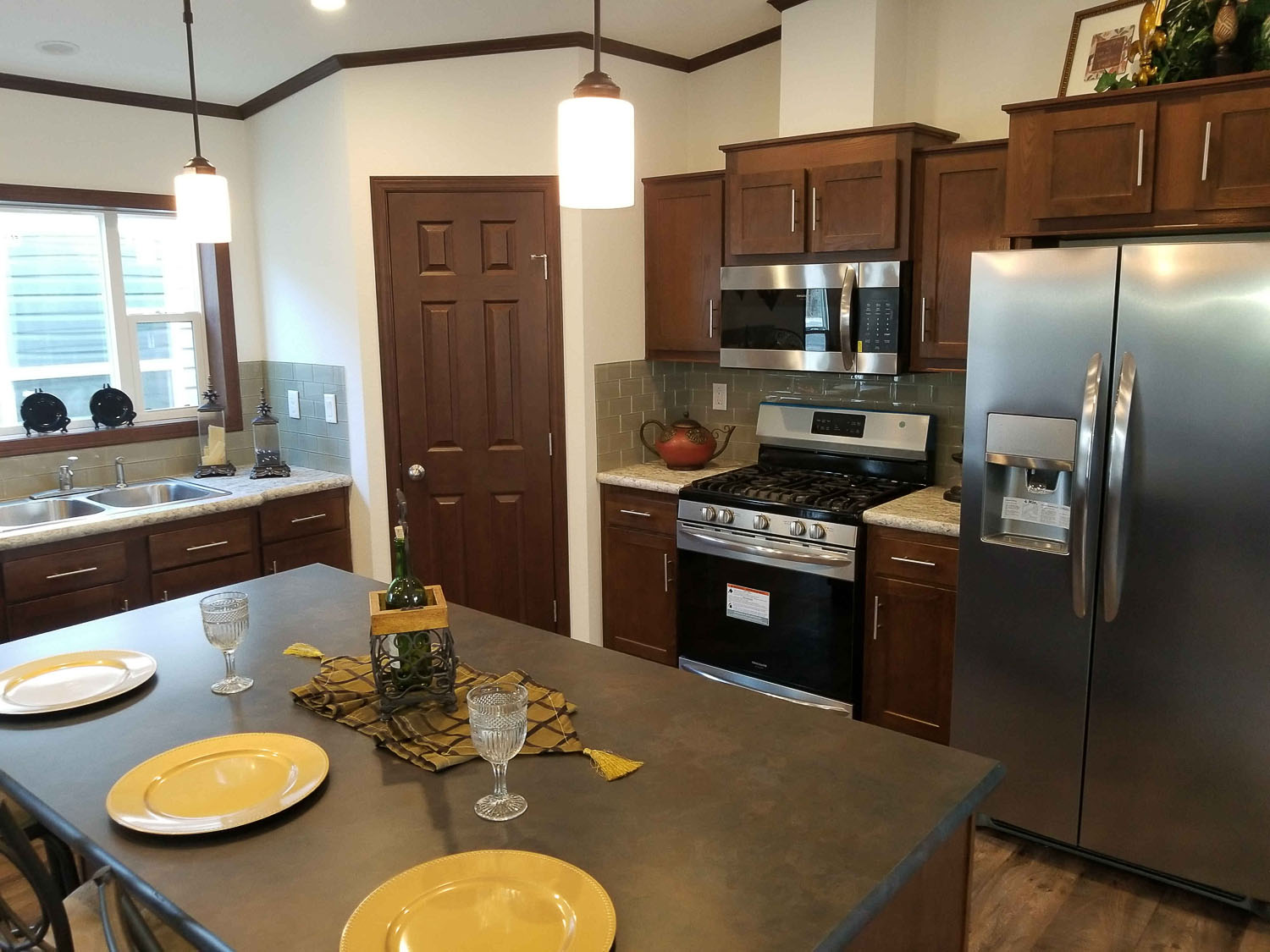 Kitchen of the Hearthside Manufactured Home Model